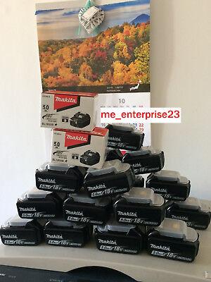 Galleria fotografica batteria Makita litio 18v 5.0Ah originale con led BL1850B..Entra!! ULTIMI PEZZI!