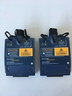 A Set Of 2 Fluke Dtx-mfm2 Fiber Modules Warranty Fast Shipping