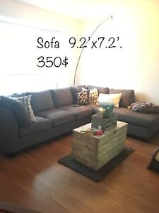 Sofa sectionel Gris