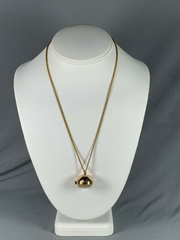 Vtg Geneva By Orloff Pendant Ball Necklace Watch