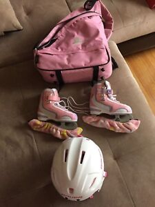 Girls Skates, Helmet, Skate Bag