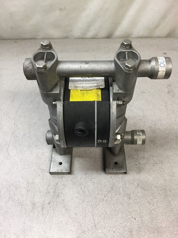 DAYTON Aluminum Buna N Single Double Diaphragm Pump, 12 gpm, 100 psi - 6PY42