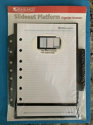 At-a-glance Slideout Platform Organizer Refill Notes 7 Ring 6 12 X 8 78 In