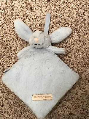 Little Jellycat Infant Sleepy Blue Bunny Book Plush Cloth Soft Baby
