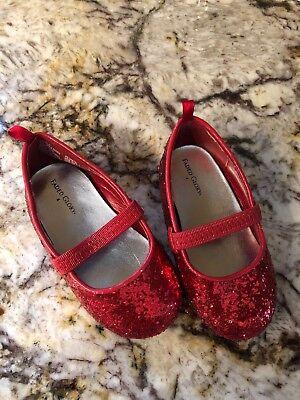 Toddler Dorothy (Infant Toddler Size 4 Red Sequin Dorothy Shoes Wizard Of Oz)
