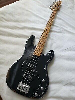 ESP Vintage Four precision body jazz neck pj bass black Made in Japan Deluxe bag
