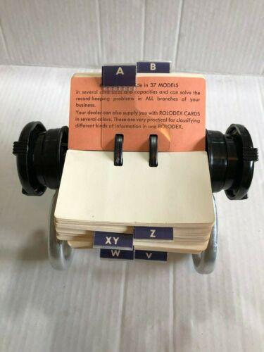 Vintage Rolodex Rotary Flip File Card Desktop Model #5024X