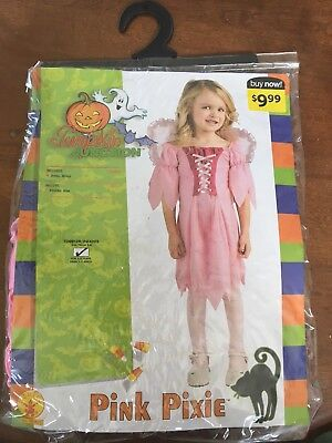 New Girls Toddler Princess Fairy Costume With Wings Pink Pixie - Fairy Princess Costume Toddler