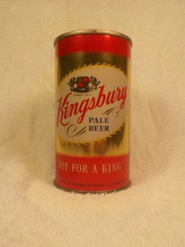 KINGSBURY SIOUX CITY IOWA TOUGH FLAT TOP OLD BEER CAN