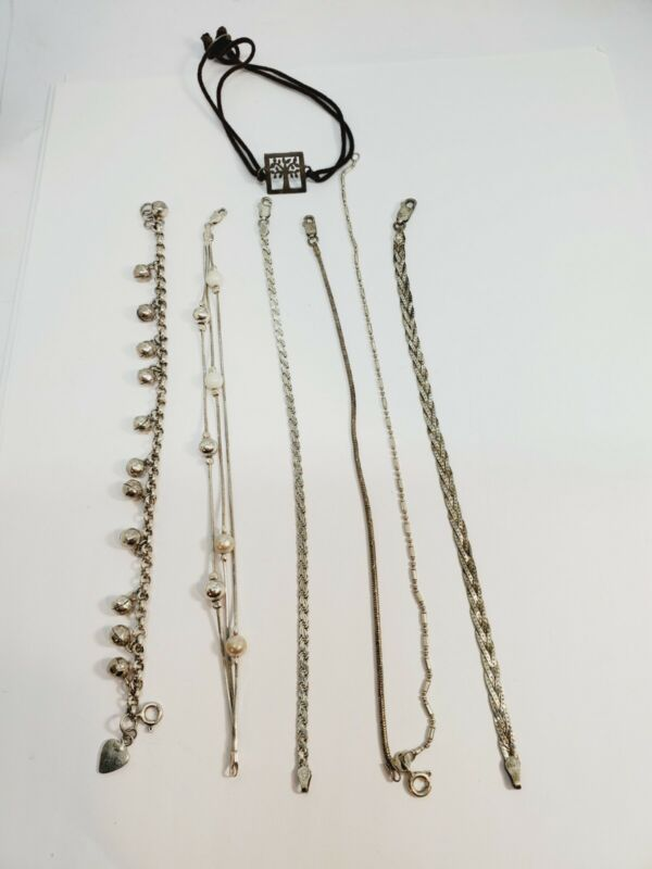 Vintage Sterling Silver 925 Bracelets Lot of 7  (C31)