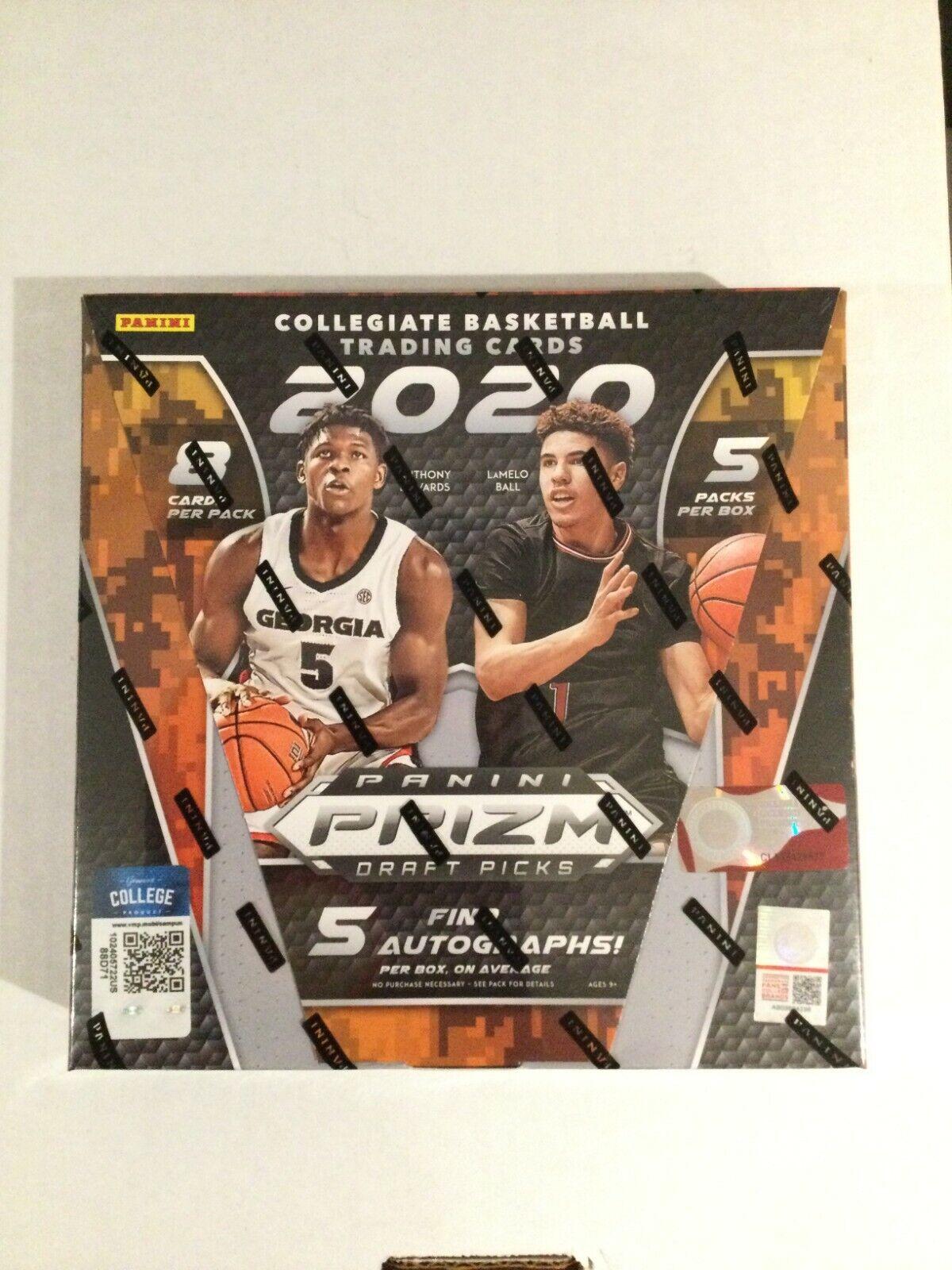 2020 Panini Prizm Collegiate Draft Picks Basketball Hobby Box Factory Sealed - $289.95