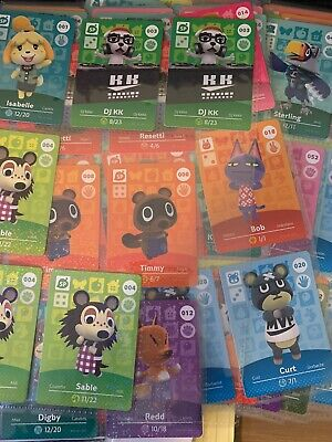 Animal Crossing Amiibo Cards - Series 1 #001-100 (US Version) U Pick-Never -
