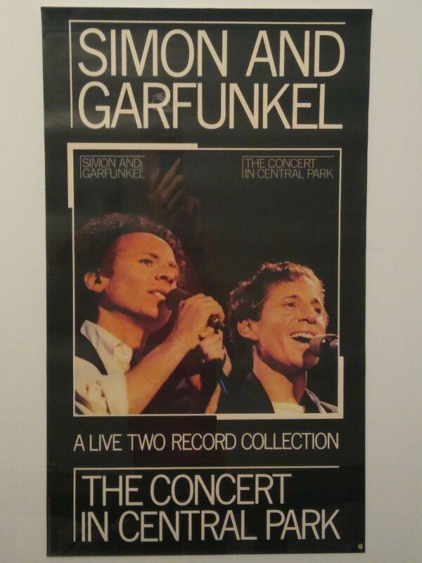 SIMON & GARFUNKEL VINTAGE CONCERT IN CENTRAL PARK PROMOTIONAL Poster 23 x 38