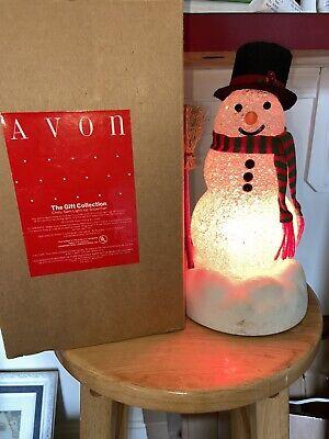 Vintage Avon CHILLY SAM Christmas Light-Up Snowman W/Box & Instructions