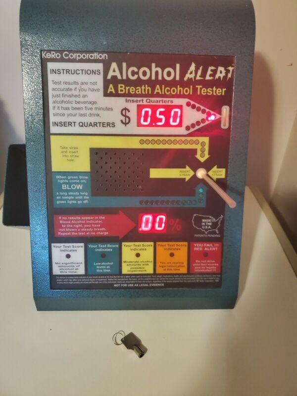 Vintage Metal Breathalyzer Alcohol Tester Coin Operate Machine BAC KeRo Corp