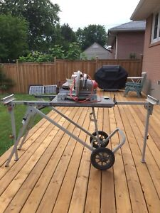 "Ridgid mitre saw 10"" blade with stand"
