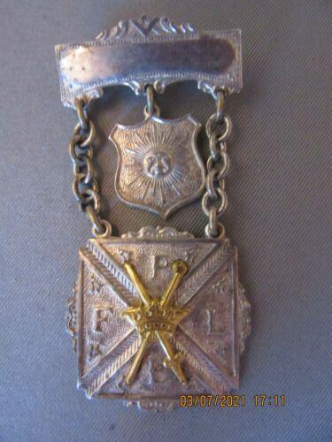 Knights of Pythias Pythian Sisters Medal Pin Badge Vintage Masonic