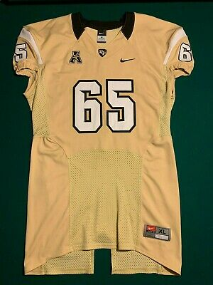 University of Central Florida UCF Knights GAME ISSUED /USED Gold Jersey #65 SzXL University Central Florida Golden Knights