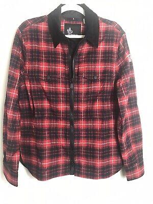 Moncler Grenoble Men's Camicia Red Black Plaid Jacket-Full Zip Front-Medium
