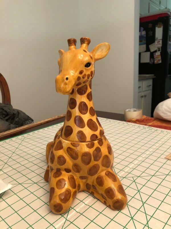 Giraffe Cookie Jar by Stephanie Stouffer