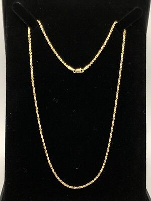 0f52e6607dfc09 Jewelry & Watches Fine Necklaces & Pendants Solid 14k Yellow Gold Ladies  1.5mm Sparkle Rope Chain Twist ...