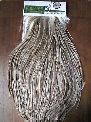 Angelsport-Artikel Fly Tying Whiting Bronze Rooster Saddle Medium Dun #B Angelsport-Köder, -Futtermittel & -Fliegen