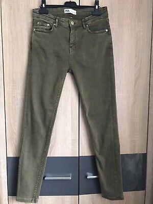zara woman khaki jeans size EUR 38 UK 10