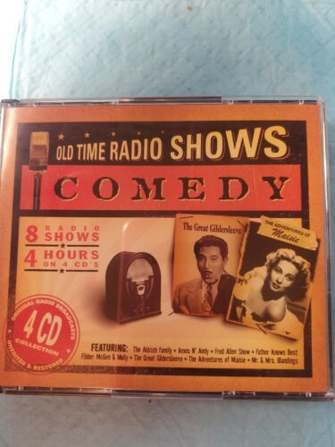 OLD TIME RADIO SHOWS  COMEDY  4 CD COLLECTION