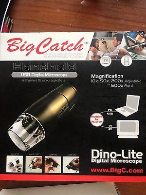 Dino-lite Amk-412- C200 Microscope Camera With Av Video Tv Output