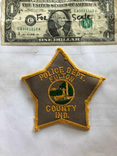 Rare Fulton County Indiana Police Patch Pre-sewn Fair-good shape