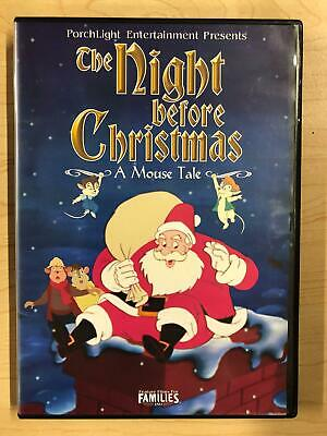 The Night Before Christmas A Mouse Tale (DVD, 2002) -
