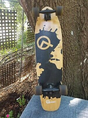 "Quest Super Cruiser Artisan Bamboo Longboard Skateboard, 34"" GUC MANY PHOTOS"
