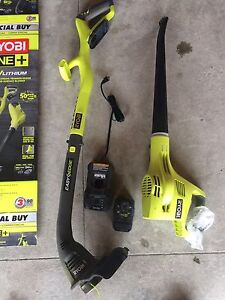Ryobi cordless trimmer package