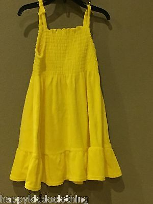 Girls Swim Coverup (Gymboree Girls Sunshine yellow dress swim cover up sundress size 4)