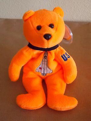 John Glenn 34 Astronaut Orange Celebrity Bears Mint MWMT  Bean Bag Plush