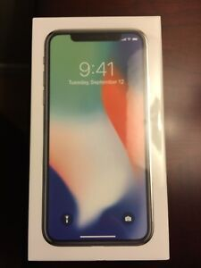 iPhone X 256 Silver Brand New Sealed Unlocked