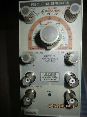 Tektronix Pg501 Pulse Generator Moduleplug-in For Tm500-tm5000. Testedworking