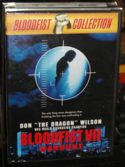 "Bloodfist VII - Manhunt (DVD) Don ""The Dragon"" Wilson, Jonathan Penner, NEW!"