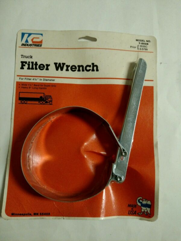 NOS KP INDUSTRIES HEAVY GAUGE TRUCK OIL FILTER WRENCH MADE IN U.S.A.