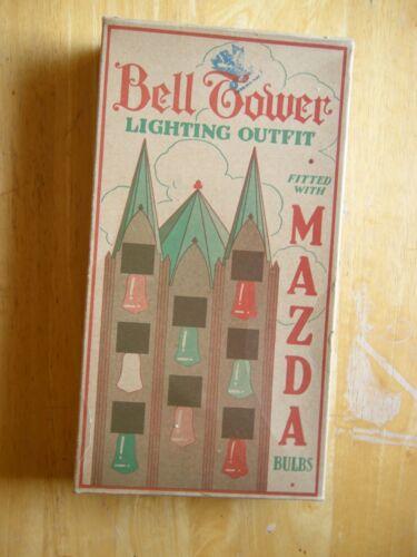 Vintage Bell Tower C6 Bell Light Set - 21 Extra Bulbs - 1930