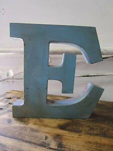 "D11079 Metal Blue Pink Purple Letter ""E"" Industrial Wall Decor Unley Unley Area Preview"