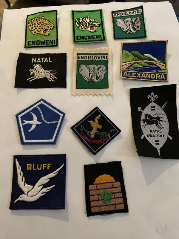 South Africa Lot of 11 Boy Scout Patches    Including Engweni Natal Alexandria