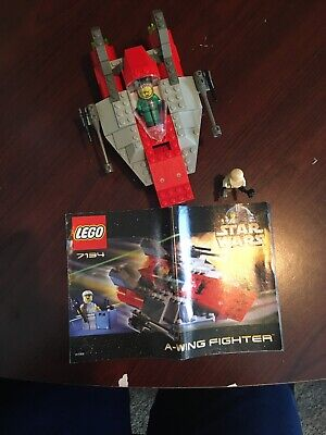Lego 7134 A-wing Fighter STAR WARS w/ instructions 100% complete Vintage 2000