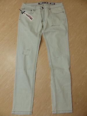 Herren-skinny-fit-jeans (Neue Soulstar Herren Skinny Fit Jeans Gr W34/L32 Bleach Destroy NEU/OVP )
