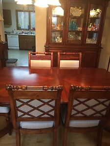 Dining room table and cabinet