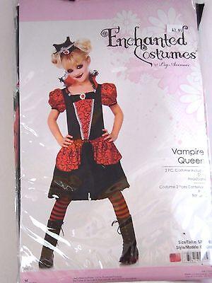 Child Girls Vampire Queen Small 4-6 Halloween Costume School Dress Up  - Vampire School Girl Costume