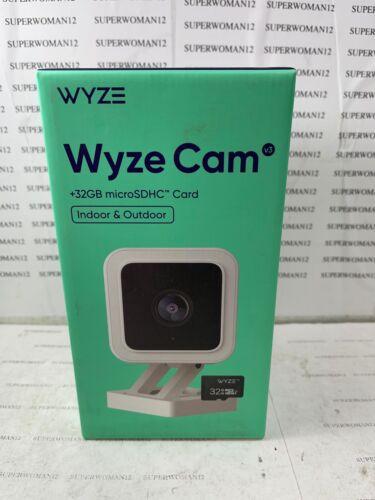 WYZE Cam V3 NEW 1080P Color Night Vision Indoor/Outdoor w/ 32GB Micro SD