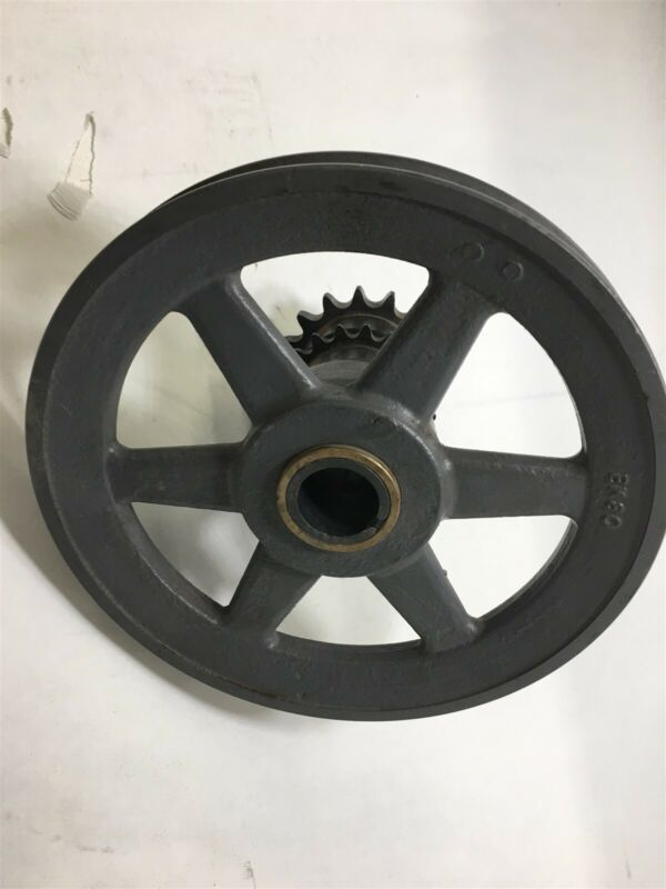 "Bk80 Pulley 8"" Od, Single Groove With Sprockets"