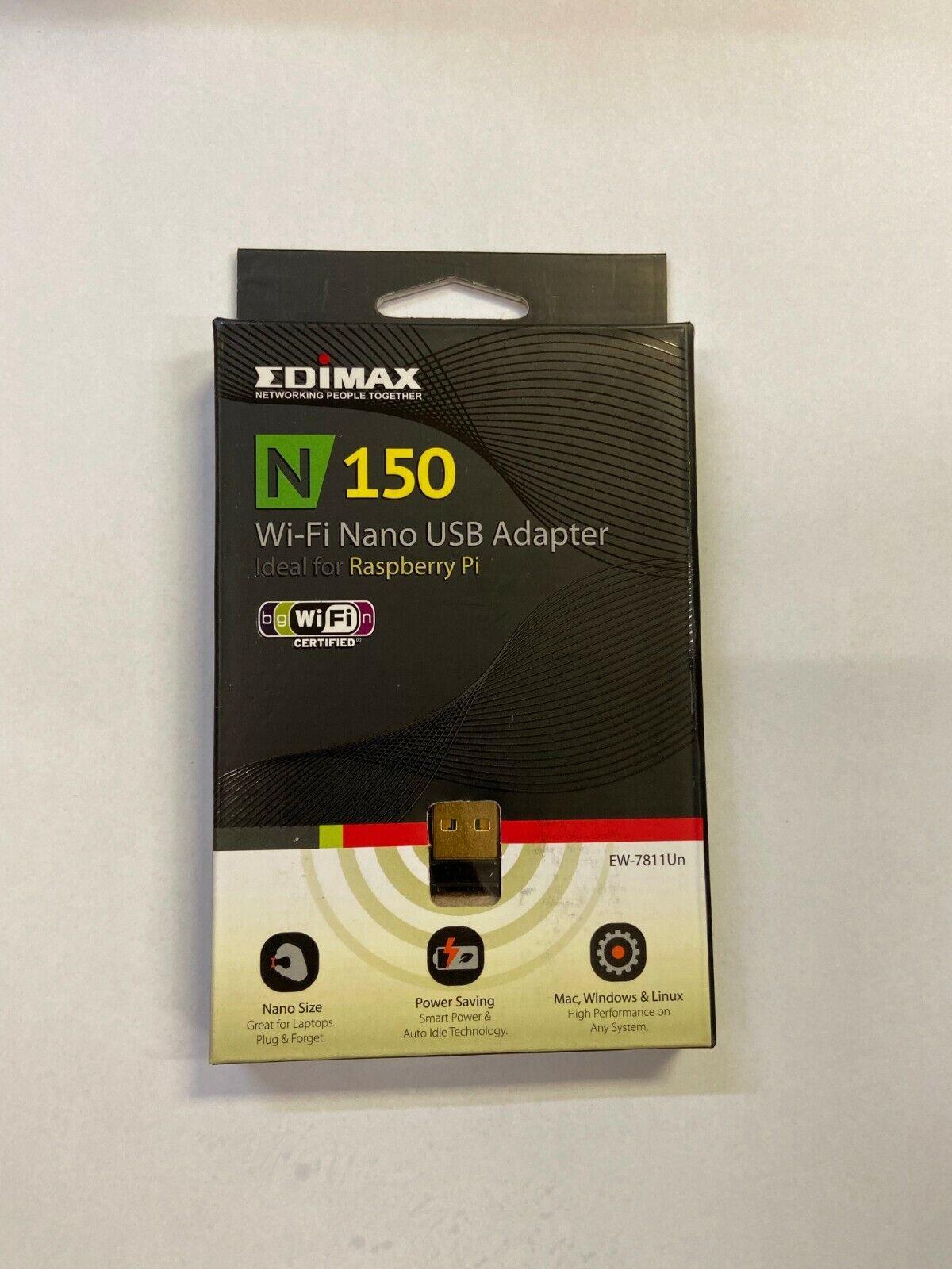 EDIMAX EW-7811Un 150 Mbps Wireless IEEE 802.11b/g/n Nano USB