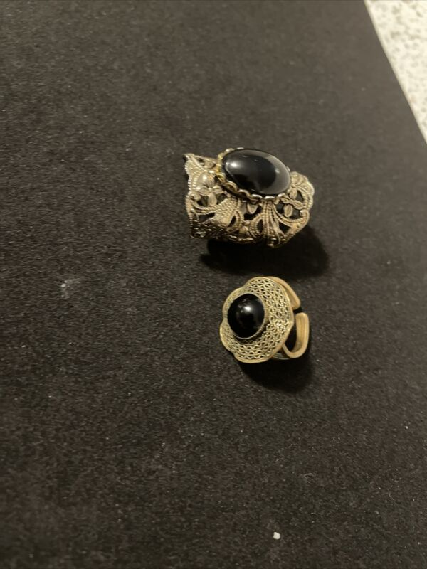 Antique Vintage Victorian Style Rings Lot One Might Be Really Really Old
